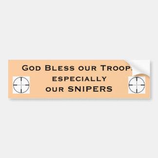 Dios bendice a nuestras tropas especiales… pegatina de parachoque