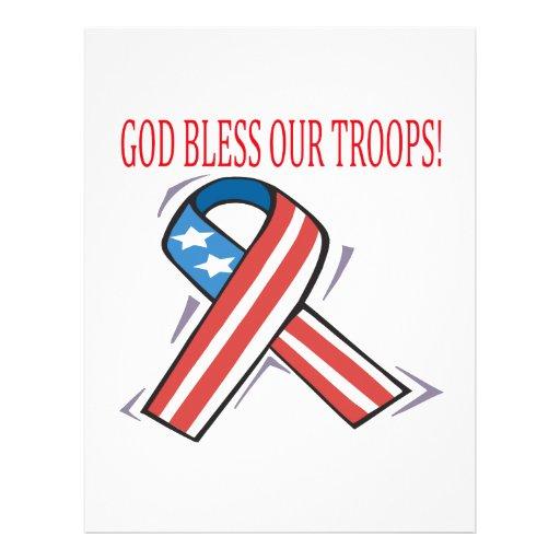 Dios bendice a nuestras tropas tarjetas informativas