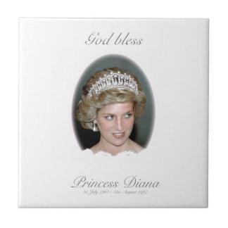 Dios bendice a princesa Diana Azulejo Cerámica