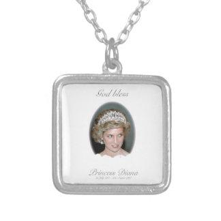 Dios bendice a princesa Diana Colgante Cuadrado