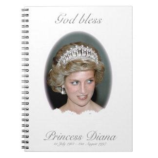 Dios bendice a princesa Diana Spiral Notebooks