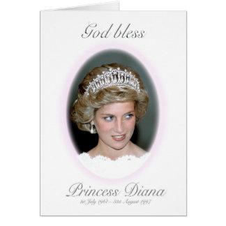 Dios bendice a princesa Diana Tarjeta De Felicitación