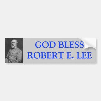 Dios bendice a Robert E Lee Etiqueta De Parachoque