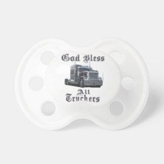 Dios bendice a todos los camioneros chupete de bebé
