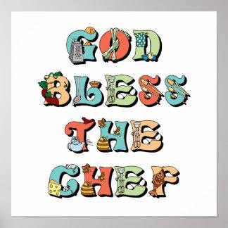 Dios bendice al cocinero impresiones