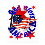 Dios bendice al cristiano de América Tarjetas Postales