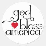 Dios bendice al pegatina de América