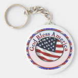 Dios bendice América 3 Llavero