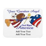Dios bendice América - ángel de guarda - SRF Iman Rectangular