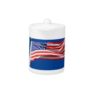 Dios bendice América, bandera americana, ayuda del