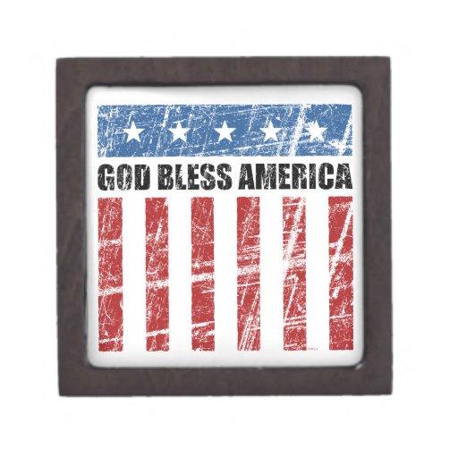 Dios bendice América Caja De Recuerdo De Calidad