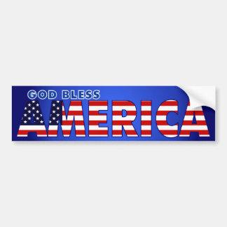 Dios bendice América Pegatina Para Auto