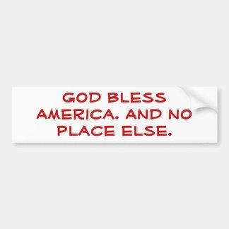 Dios bendice América Pegatina De Parachoque