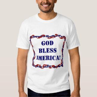 ¡Dios bendice América! Camisas