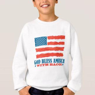 Dios bendice América con tocino Sudadera