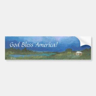 Dios bendice América de la perspectiva titulada Pegatina Para Auto