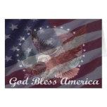 Dios bendice América Felicitacion