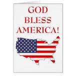 Dios bendice América Felicitación