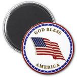 Dios bendice América Imán De Frigorifico