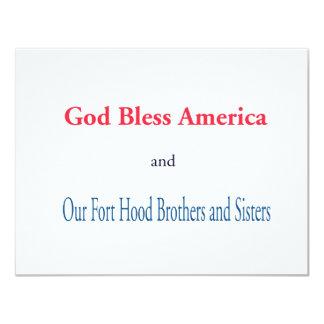"""Dios bendice América Invitación 4.25"""" X 5.5"""""""