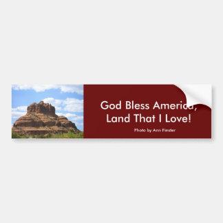 ¡Dios bendice América la tierra que amo Pegatina De Parachoque