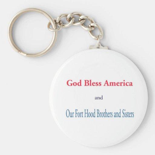 Dios bendice América Llavero Personalizado