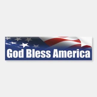 Dios bendice América - los E.E.U.U. Pegatina De Parachoque