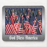 Dios bendice América Mousepad Tapete De Ratones