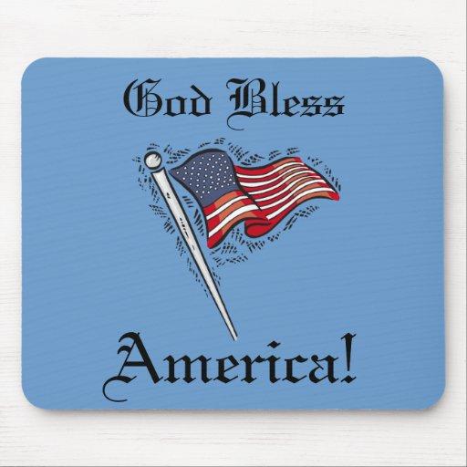 Dios bendice América Mousepad Tapetes De Ratones