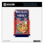 Dios bendice América, niños y los tambores iPod Touch 4G Skins