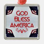 Dios bendice América Ornamentos De Navidad