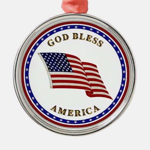 Dios bendice América Ornato