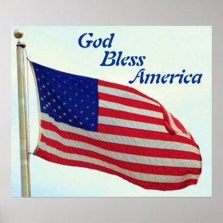 Dios bendice América Posters