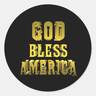 Dios bendice América Pegatinas Redondas
