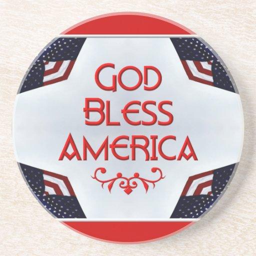 Dios bendice América Posavasos Diseño