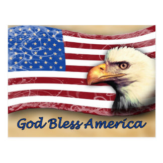 Dios bendice América Postales