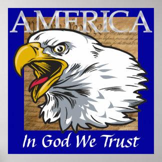 Dios bendice América Poster