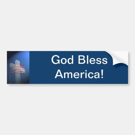 ¡Dios bendice América!  Regalos y ropa Pegatina Para Auto