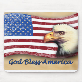 Dios bendice América Tapete De Ratón