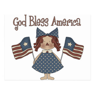 Dios bendice América Tarjeta Postal