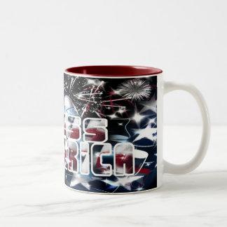 Dios bendice América Taza Dos Tonos