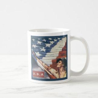 ¡Dios bendice América! Taza Básica Blanca