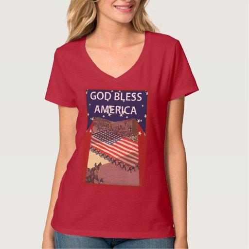 Dios bendice América Tee Shirts