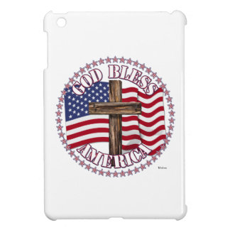 Dios bendice América y la cruz con las estrellas d