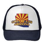 Dios bendice Arizona Gorros Bordados