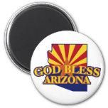 Dios bendice Arizona Imán De Nevera