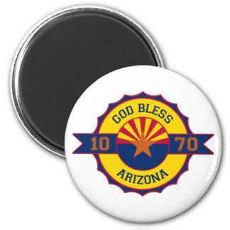 Dios bendice Arizona Imán Redondo 5 Cm