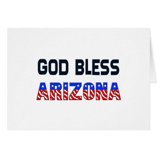 Dios bendice Arizona Tarjeta De Felicitación