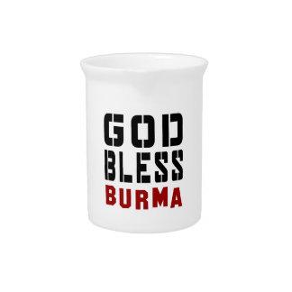 Dios bendice Birmania Jarra