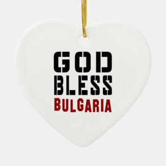 Dios bendice Bulgaria Adorno De Cerámica En Forma De Corazón